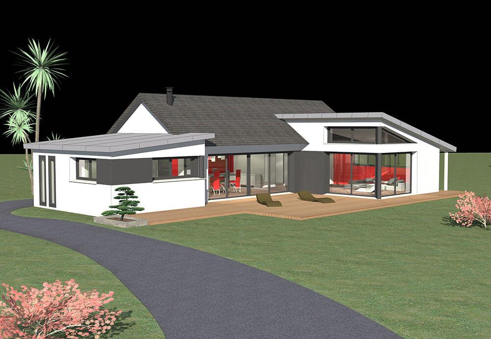 Construction de maisons de plain-pied à Quimper dans le Finistère