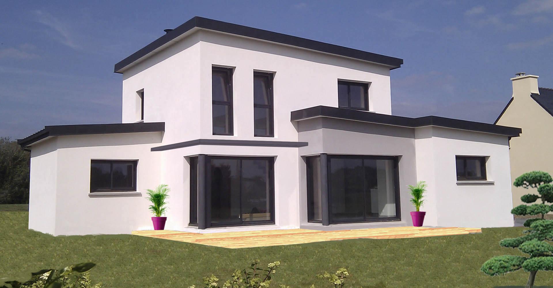Constructeur de maisons modernes et contemporaines quimper for Maison moderne finistere