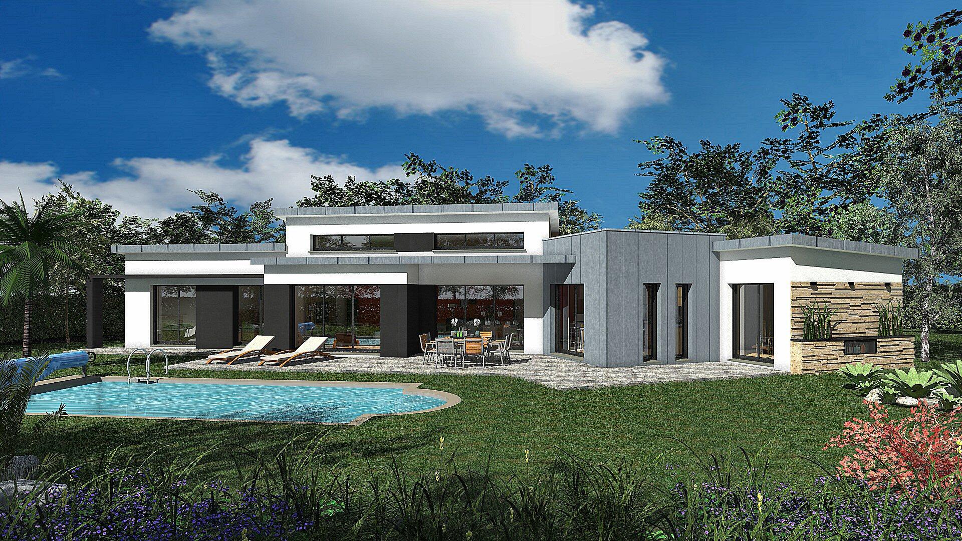 construction de maisons de plain pied quimper dans le. Black Bedroom Furniture Sets. Home Design Ideas
